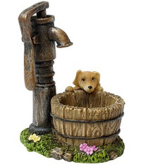 Miniature Fairy Garden Well | Miniature Fairy Garden Accessories | Garden Pump and Puppy