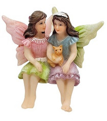 Miniature Fairy Garden Fairy | Miniature Fairy Garden Statue | Fairies and Kitty