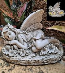 Solar Fairy Sleeping Statue - Fairytale Gardens Australia - Fairy Gardening Australia