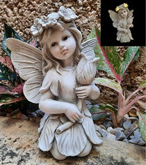 Solar Fairy Flower Statue - Fairytale Gardens Australia - Fairy Gardening Australia
