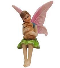 Miniature Fairy Garden Fairy - Fairy Statues - Fairy Ava and Bunny
