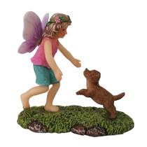 Miniature Fairy Garden Fairy - Fairy Statues - Fairy Sophia and Puppy