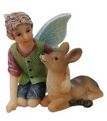 Miniature Fairy Garden Fairy - Fairy Statues - Ethan And Deer