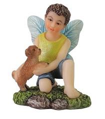 Miniature Fairy Garden Fairy - Fairy Statues - Jordan and Puppy