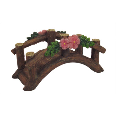 Miniature Fairy Garden Fairy - Fairy Garden Features - Enchanted Flower Bridge