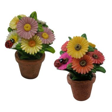 Miniature Fairy Garden Fairy - Fairy Garden Accessories - Daisy Pot Set