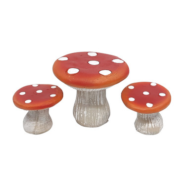 Miniature Fairy Garden Bistro   Miniature Fairy Garden Furniture   Mushroom Bistro