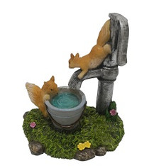 Miniature Fairy Garden Pet - Fairy Statues -Squirrels Playing
