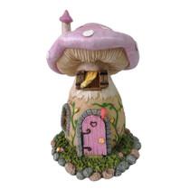 Miniature Fairy Garden Cottage - Fairy Garden House - Mushroom Fairy House Lilac