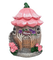 Miniature Fairy Garden Cottage - Fairy Garden House - Welcome Flower House