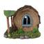 Miniature Fairy Garden Solar House - Fairy Garden House - Solar Log Cottage
