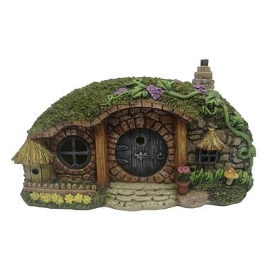 Miniature Fairy Garden Solar House - Fairy Garden House - Hobbit Solar House