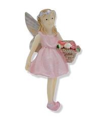 Miniature Fairy Garden Fairy | Miniature Fairy Garden Statue | Heidi Goes Strawberry Picking