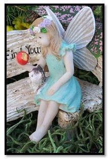 Miniature Fairy Garden Fairy | Miniature Fairy Garden Statue | Fairy Aubrey