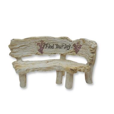 Miniature Fairy Garden Bistro - Miniature Fairy Garden Furinture - Find Your Joy Bench