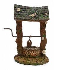 Miniature Fairy Garden Wishing Well | Miniature Fairy Garden Accessories | Floral Wishing Well
