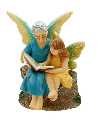 Miniature Fairy Garden Fairy   Miniature Fairy Garden Statue   Time with Grandma