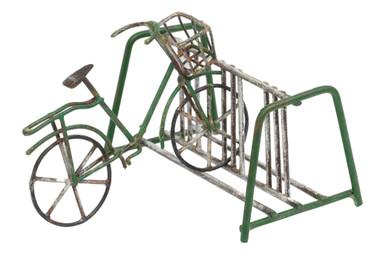 Miniature Fairy Garden Bike   Miniature Fairy Garden Accessories   Green Bike and Rack
