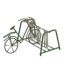 Miniature Fairy Garden Bike | Miniature Fairy Garden Accessories | Green Bike and Rack