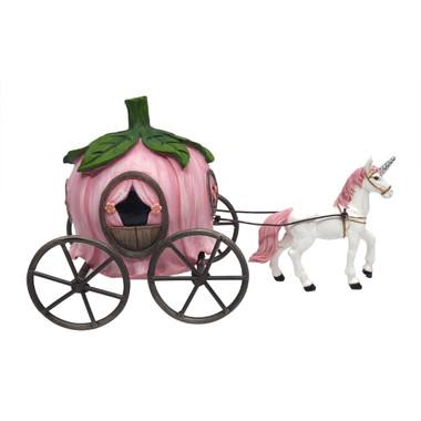 Miniature Fairy Garden Carriage | Miniature Fairy Garden Accessories | Unicorn Drawn Carriage
