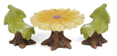 Miniature Fairy Garden Furinture - Miniature Fairy Garden - Daisy Table Set