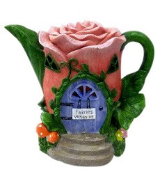 Flower Teapot Solar - Fairytale Gardens - Fairy Garden Solar Houses