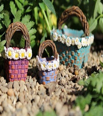 Daisy Baskets set of 3