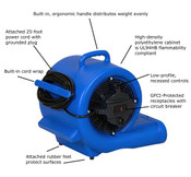 RAPTOR High-Velocity Centrifugal Air Movers (Deluxe Blue): RAM1000DBL