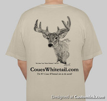 Short sleeve tshirt with velvet deer on back