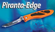The Piranta Edge with blaze orange to help prevent accidental loss.