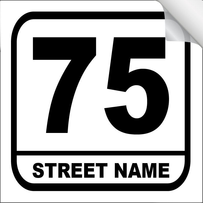 64b34b98d2b3 Bin Sticker Numbers (Set of 4) - Style 3/White-Green - Property Signs