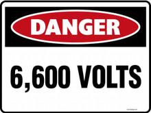 DANGER - 6600 VOLTS
