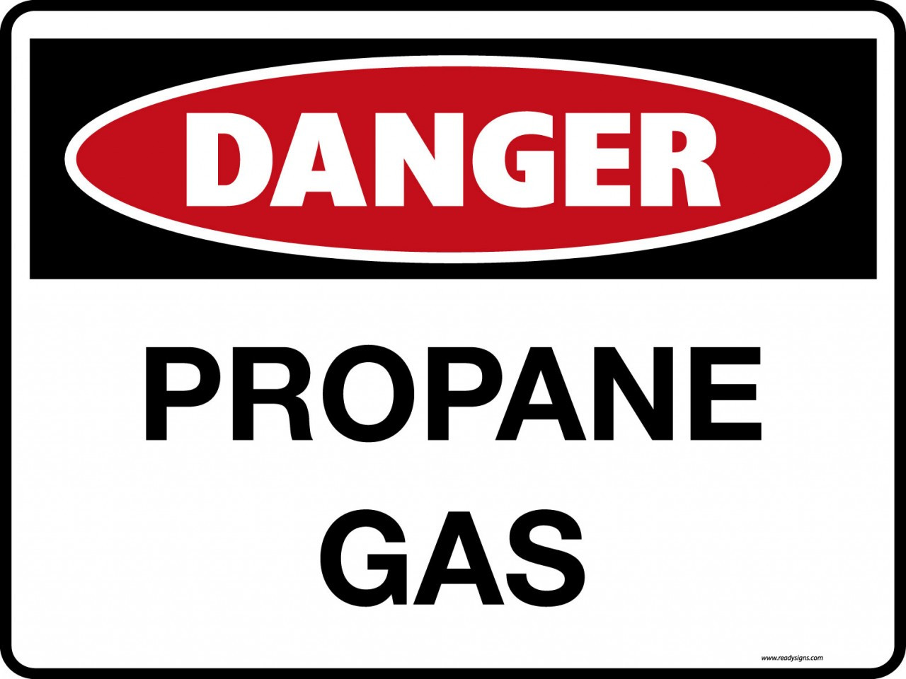 Danger Signs Propane Gas Ready Signs