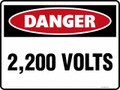DANGER - 2200 VOLTS