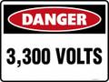 DANGER - 3300 VOLTS