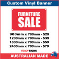 FURNITURE SALE - CUSTOM VINYL BANNER SIGN