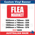 FLEA MARKET - CUSTOM VINYL BANNER SIGN