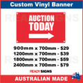 AUCTION TODAY (ARROW) - CUSTOM VINYL BANNER SIGN