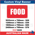 FOOD - CUSTOM VINYL BANNER SIGN