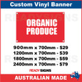 ORGANIC PRODUCE - CUSTOM VINYL BANNER SIGN