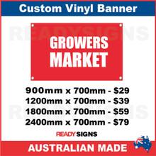 GROWERS MARKET - CUSTOM VINYL BANNER SIGN