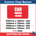 (ARROW) CAR WASH - CUSTOM VINYL BANNER SIGN