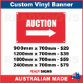 AUCTION (ARROW) - CUSTOM VINYL BANNER SIGN