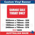 GARAGE SALE TODAY ONLY - CUSTOM VINYL BANNER SIGN