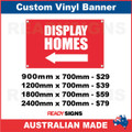 ( ARROW )  DISPLAY HOMES - CUSTOM VINYL BANNER SIGN