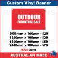 OUTDOOR FURNITURE SALE - CUSTOM VINYL BANNER SIGN