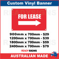 FOR LEASE ( ARROW )   - CUSTOM VINYL BANNER SIGN