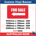 ( ARROW )  FOR SALE  - CUSTOM VINYL BANNER SIGN