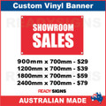 SHOWROOM SALES - CUSTOM VINYL BANNER SIGN