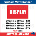 DISPLAY - CUSTOM VINYL BANNER SIGN